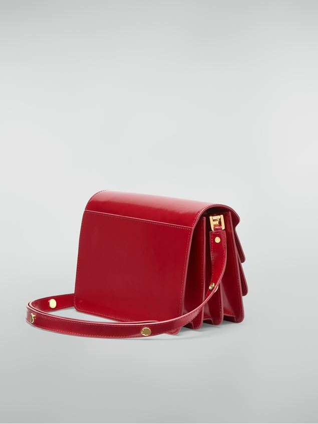 Marni TRUNK bag in red polished calfskin Woman - 3