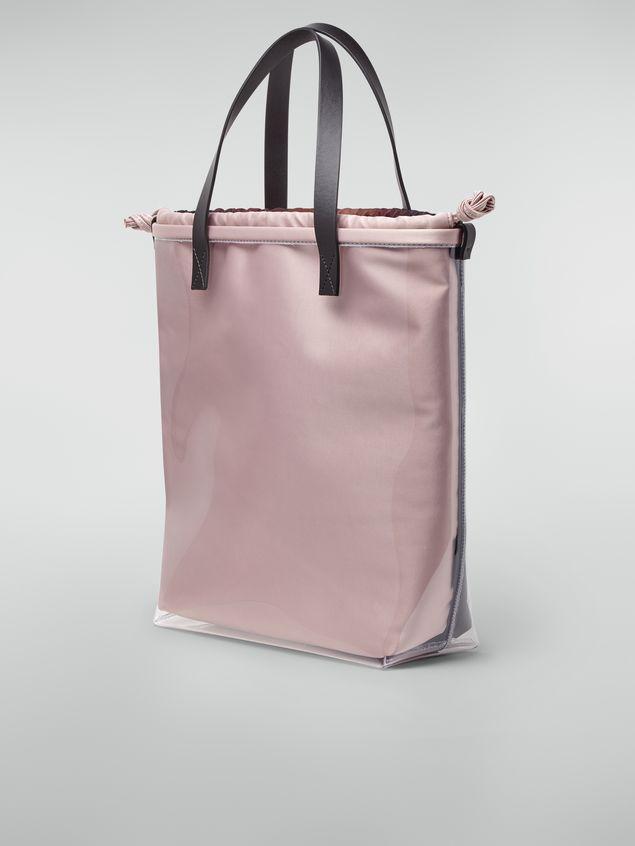 Marni Shopping-Tasche aus transparentem PVC mit rosa Innentasche aus Satin mit Pixel-Grace-Print  Damen
