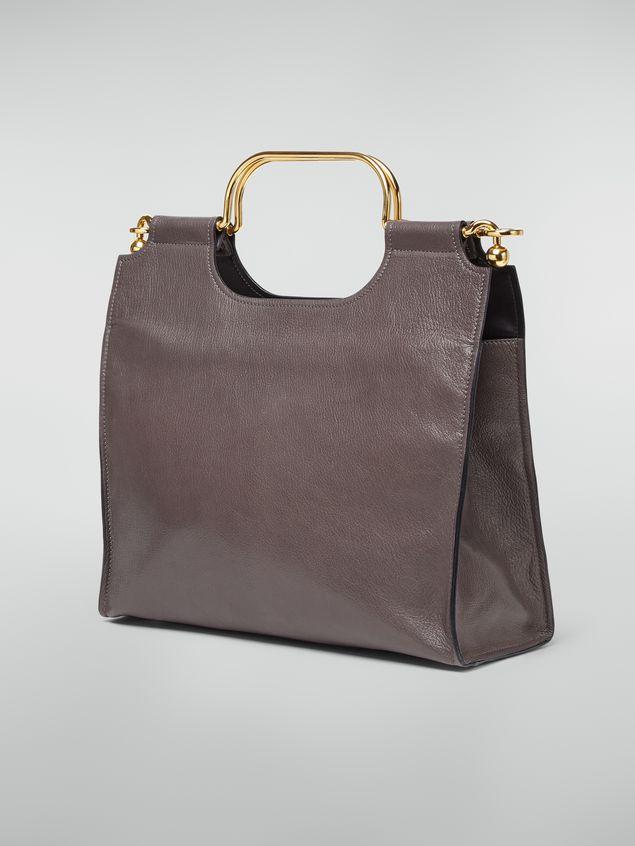 Marni MARCEL handbag in goat-print calfskin grey Woman