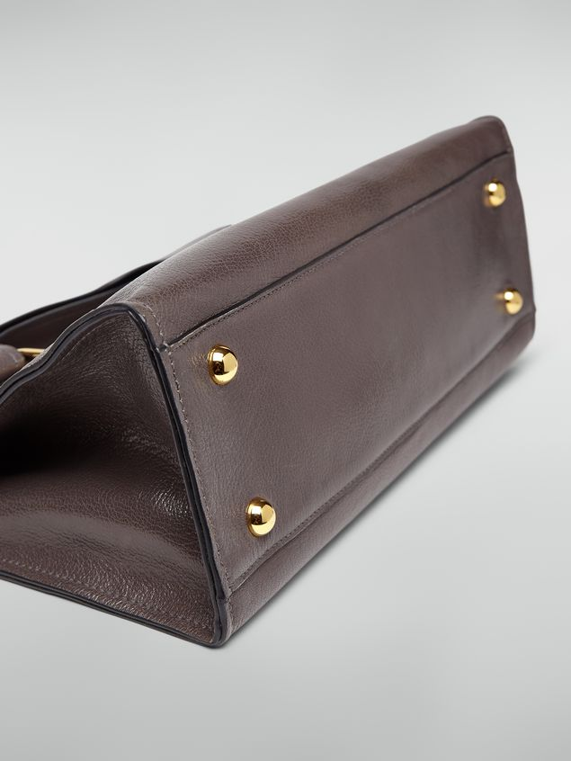 Marni MARCEL handbag in goat-print calfskin grey Woman - 5