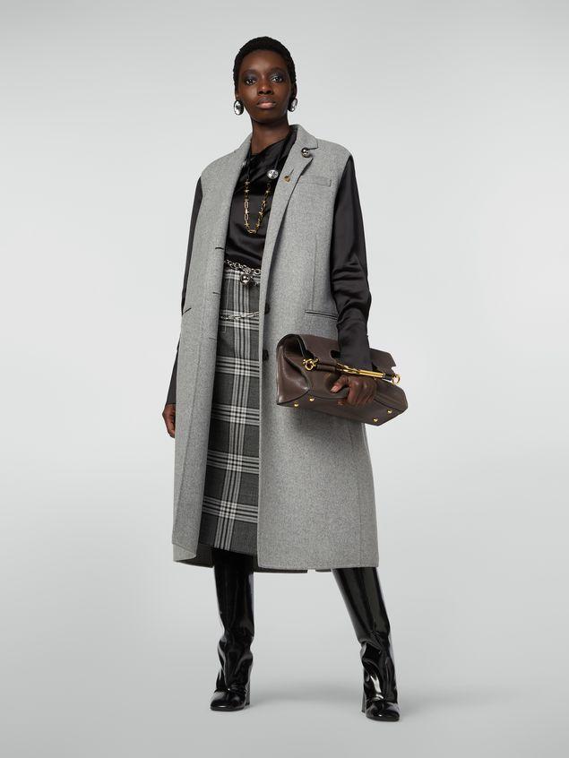 Marni MARCEL handbag in goat-print calfskin grey Woman - 2