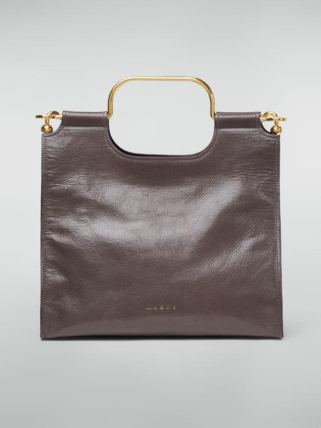 Marni MARCEL handbag in goat-print calfskin grey Woman - 1