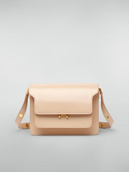 Marni TRUNK bag in beige polished calfskin Woman