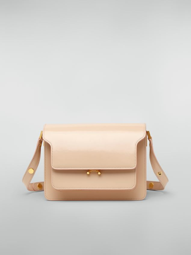 Marni TRUNK bag in beige polished calfskin Woman - 1