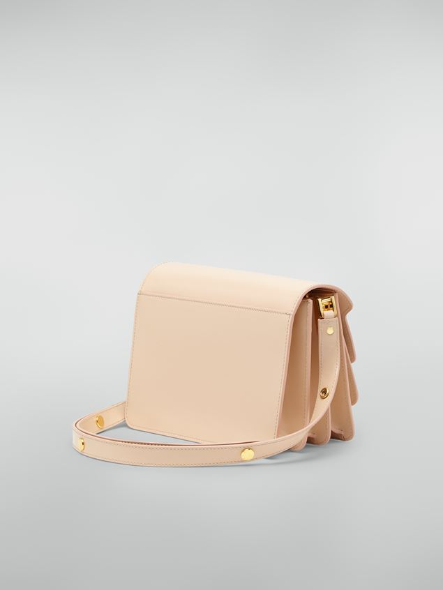 Marni TRUNK bag in beige polished calfskin Woman - 3