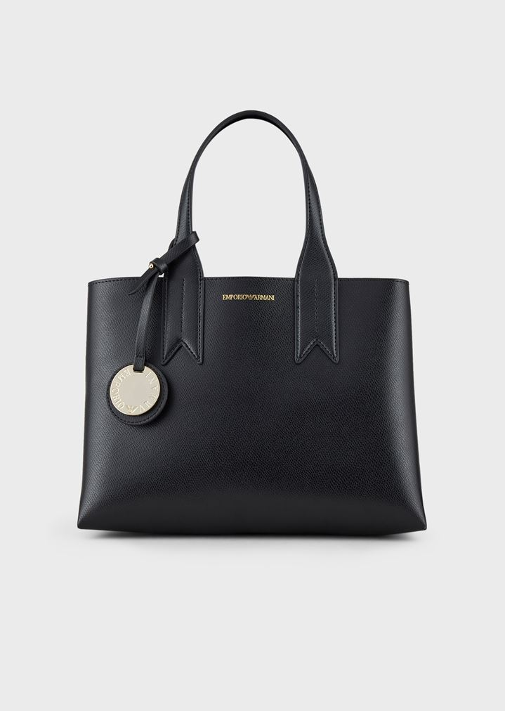 2b8576fd66 Shopper with screen-printed logo and charm