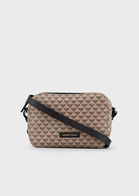Mini shoulder bag with all-over monogram