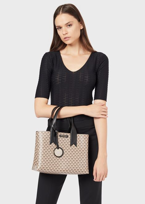 Handbag with all-over monogram