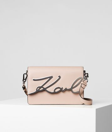 KARL LAGERFELD K/SIGNATURE SHOULDER BAG