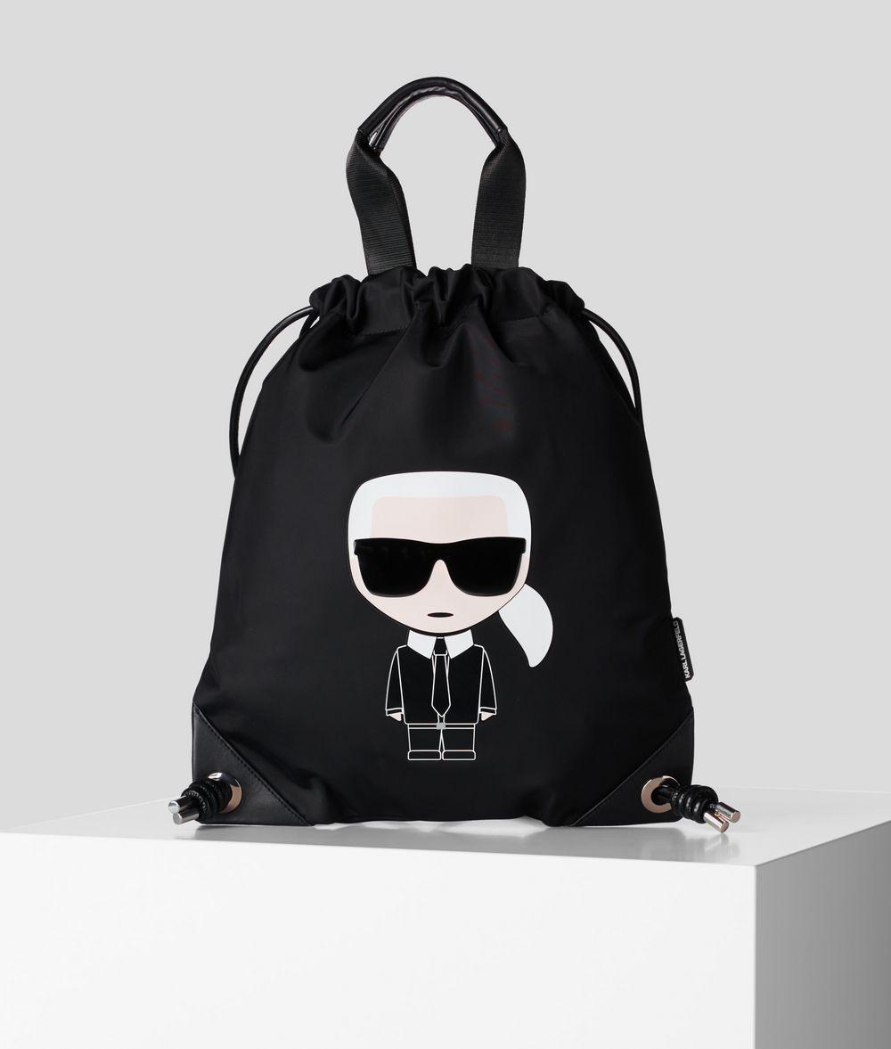 KARL LAGERFELD K/Ikonik Flat Backpack Backpack E f