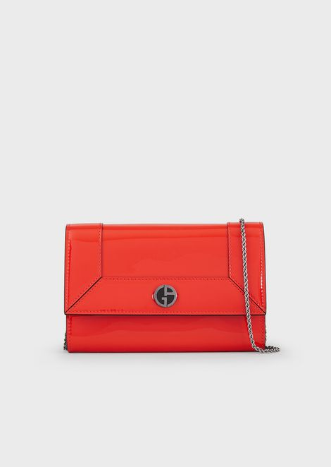 Patent leather mini shoulder bag