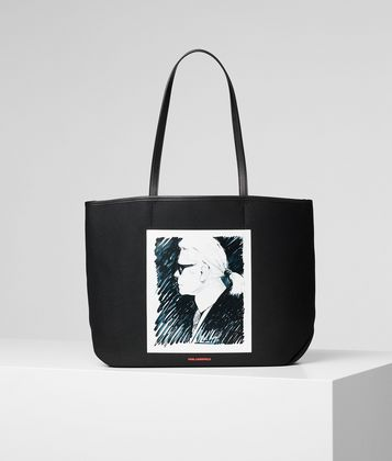 KARL LAGERFELD СУМКА-ТОУТ ИЗ ПАРУСИНЫ KARL LEGEND