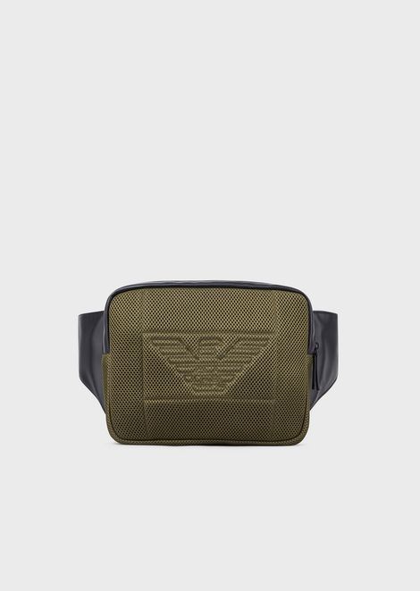 Pouch with mesh pocket and eagle maxi logo