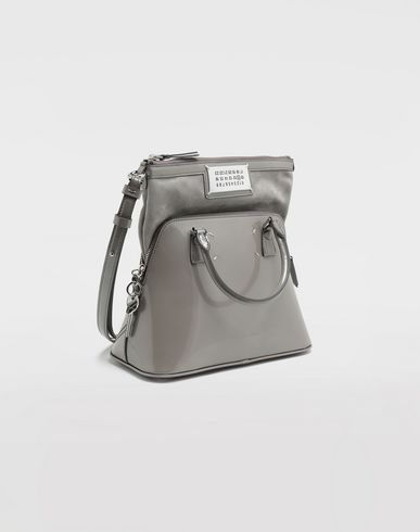 BAGS 5AC patent leather mini bag Grey
