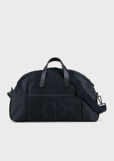 041b786bd14 Holdall with embossed logo and detachable shoulder strap