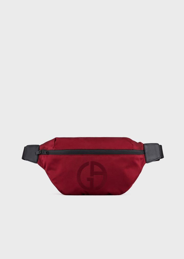 b5a2c3b199 Belt bag with embossed logo and zip pocket on the front