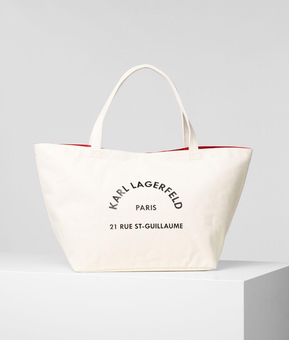 KARL LAGERFELD Rue St Guillaume Tote Canvas Shopper E f