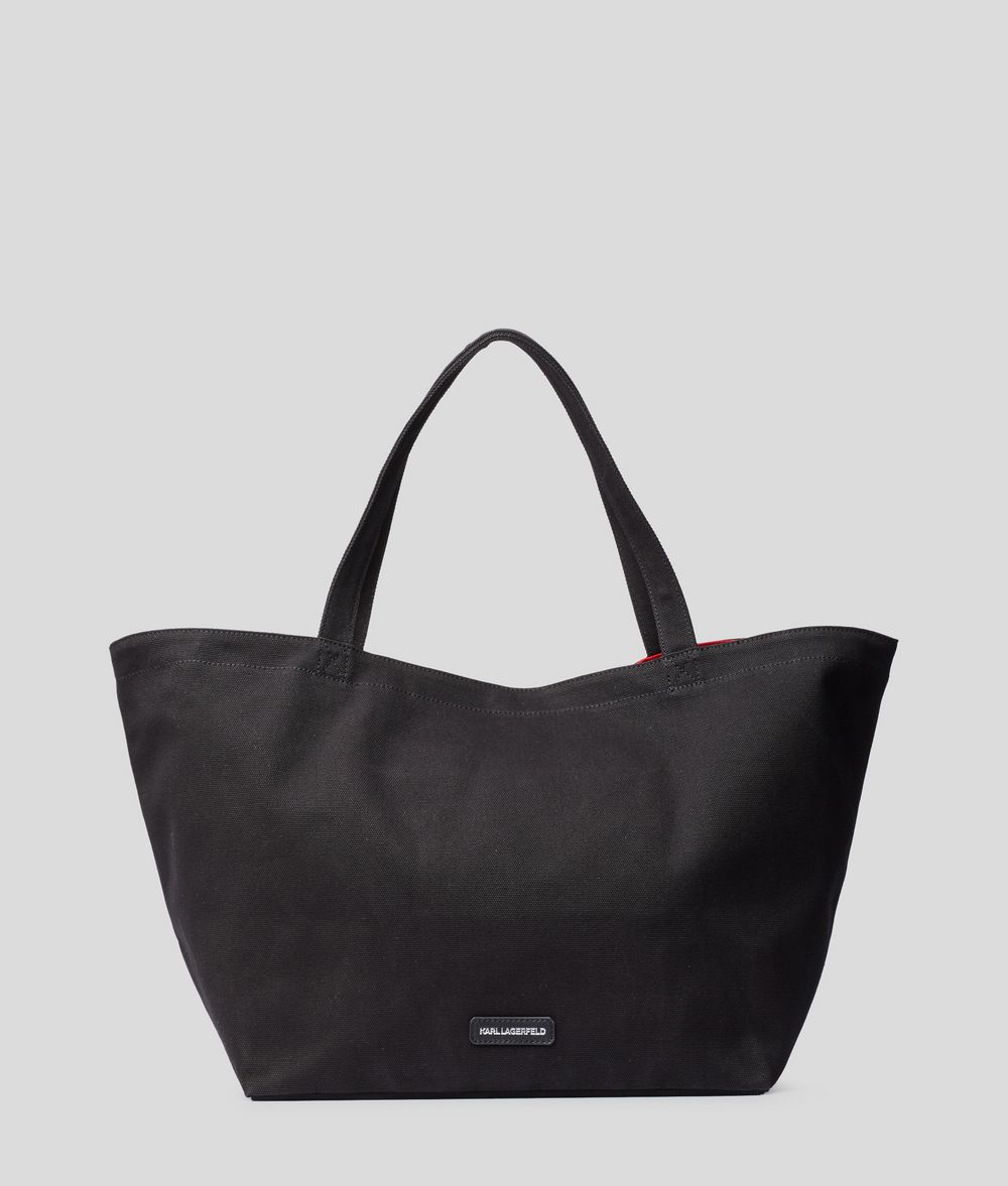 KARL LAGERFELD Rue St Guillaume Tote Bag Canvas Shopper E d