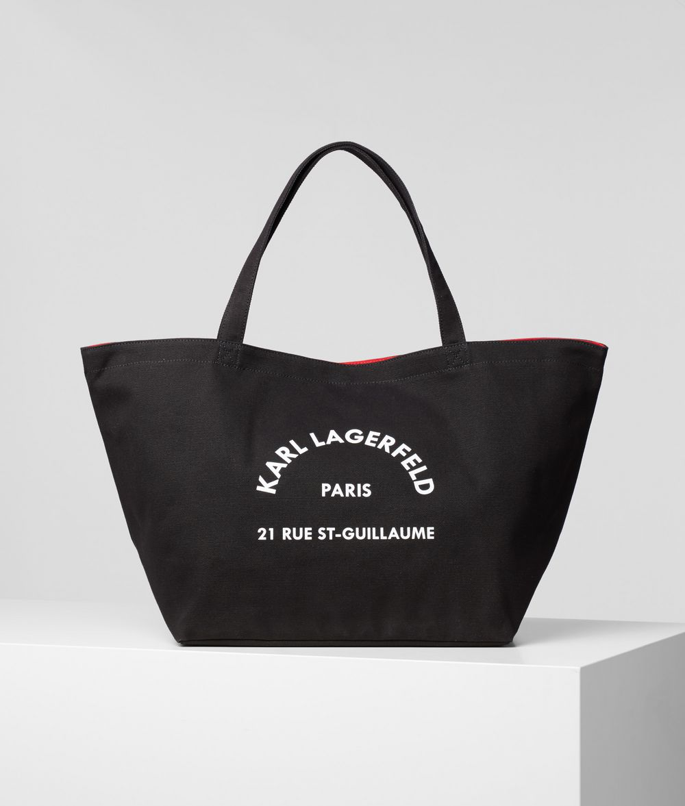 KARL LAGERFELD Rue St Guillaume Tote Bag Canvas Shopper E f