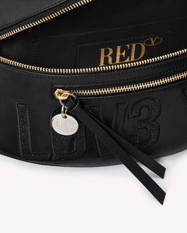 REDValentino BIKERED ENCRYPTED LOVE NOTES BELT BAG