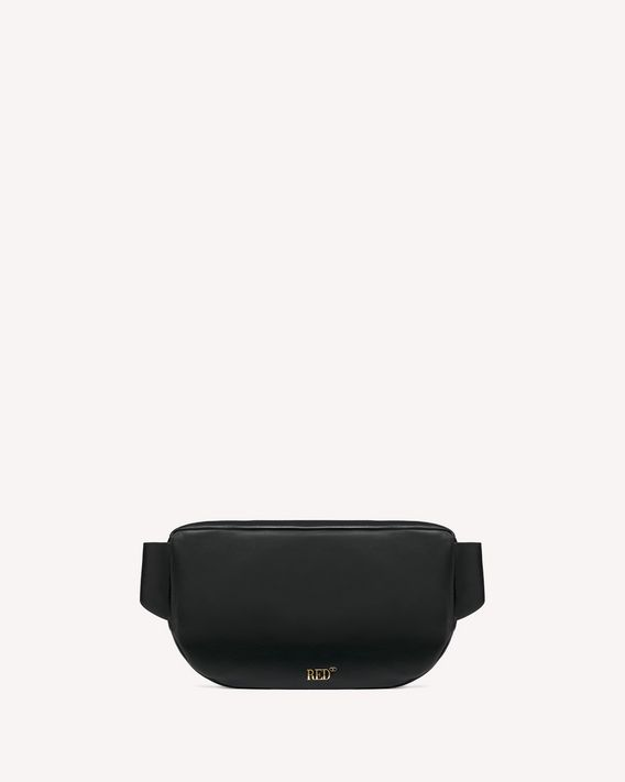 REDValentino ENCRYPTED LOVE NOTES BIKER BELT BAG