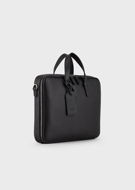 Briefcase in grained calfskin