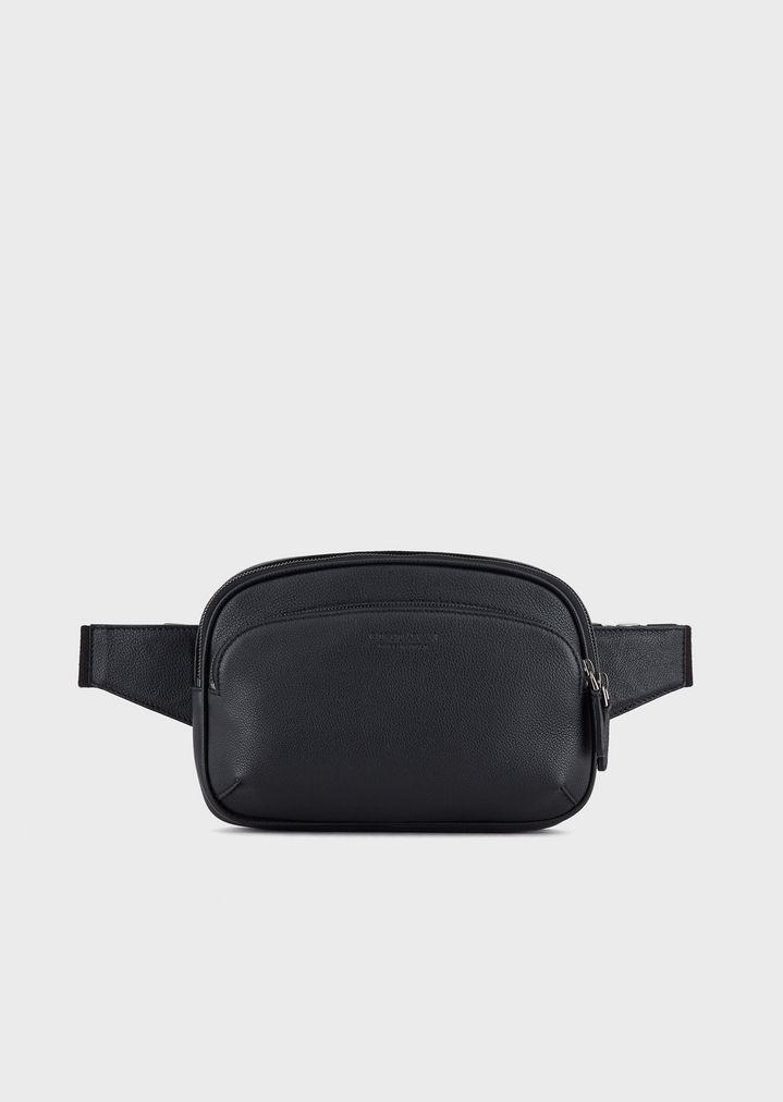 997e88fe Pouch bag in full-grain leather