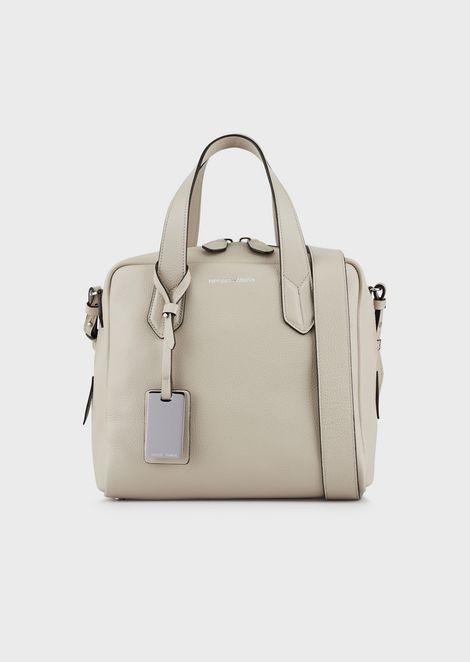 Bolso baúl de piel abatanada