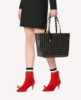 REDValentino FLOWER PUZZLE TOTE BAG