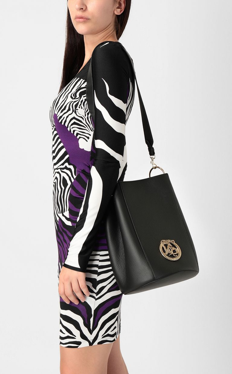 JUST CAVALLI Bucket bag with logo Crossbody Bag Woman d