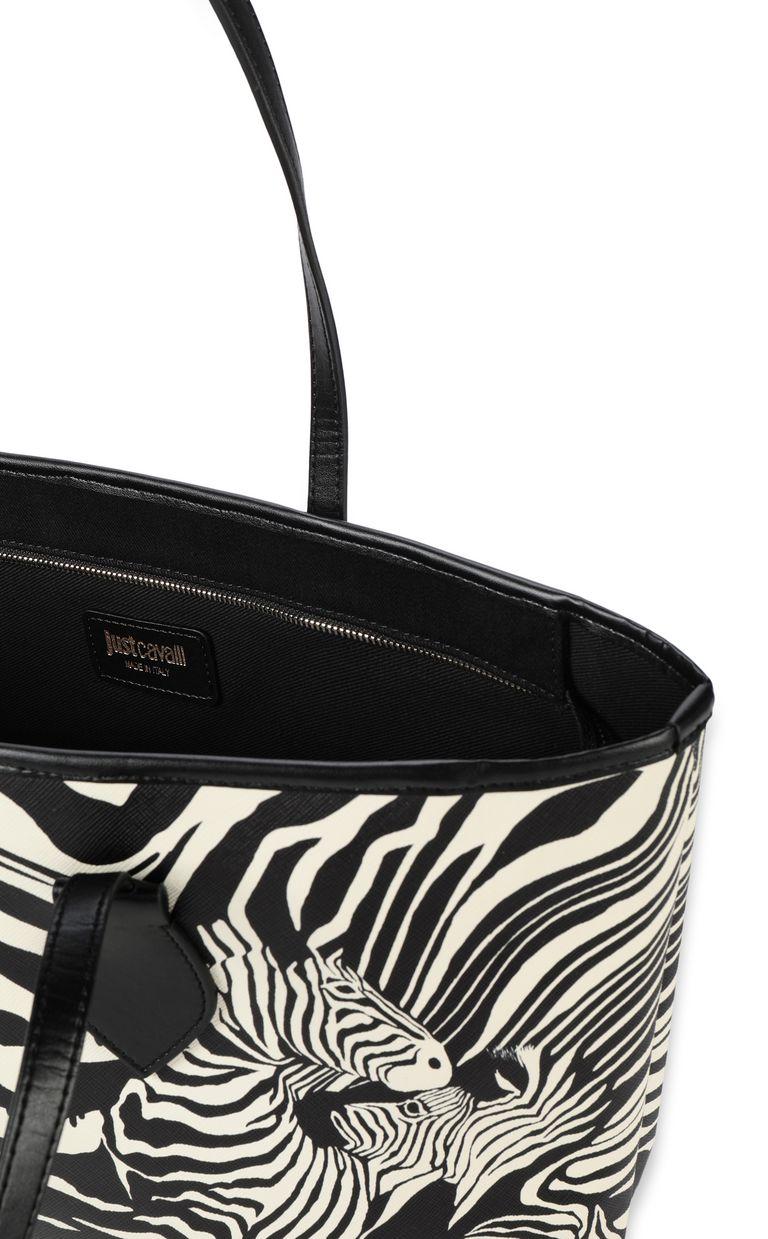 JUST CAVALLI Shopper with zebra-stripe print Tote Woman a