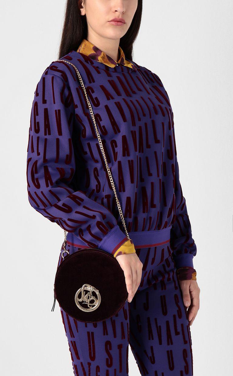 JUST CAVALLI Velvet shoulder bag Crossbody Bag Woman d