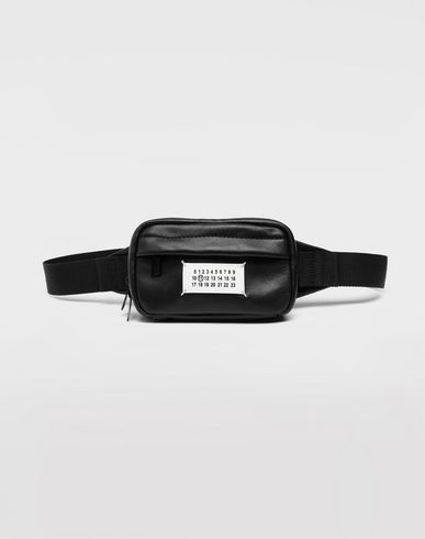 BAGS Logo leather bumbag  Black