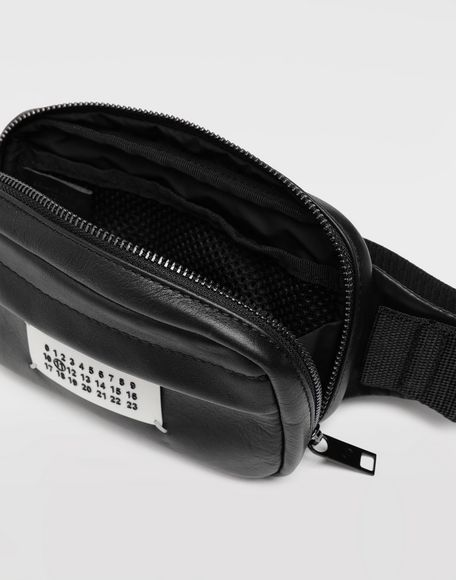 MAISON MARGIELA Logo leather bumbag Fanny pack Man a