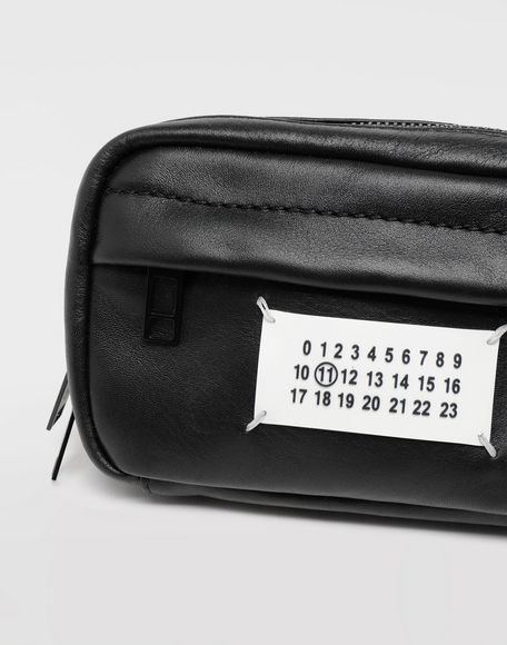 MAISON MARGIELA Logo leather bumbag Fanny pack Man b