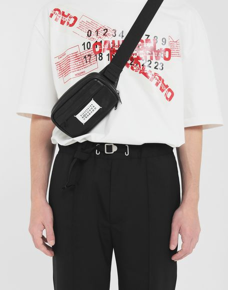 MAISON MARGIELA Logo leather bumbag Bum bag Man r