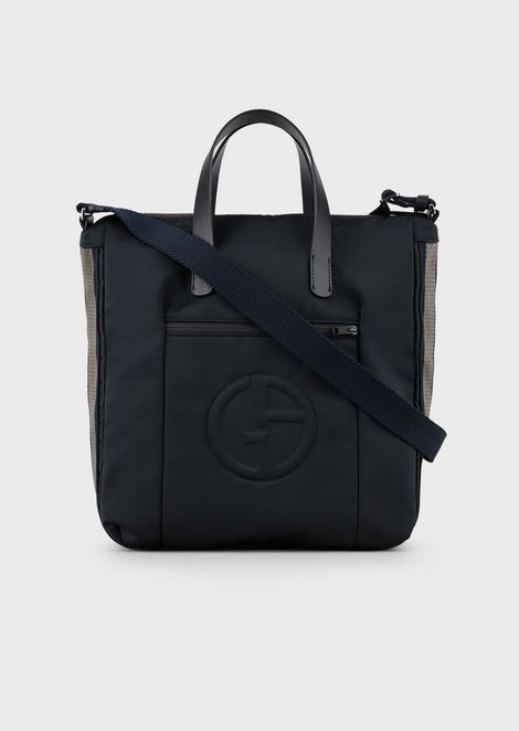 Nylon shopper with embossed GA logo