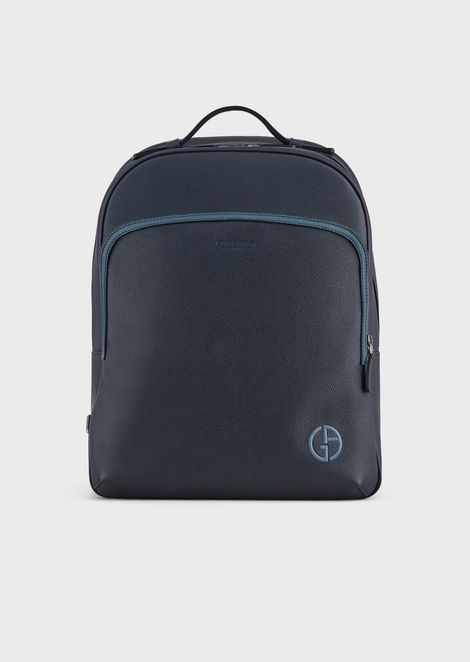 Backpack in grainy calfskin