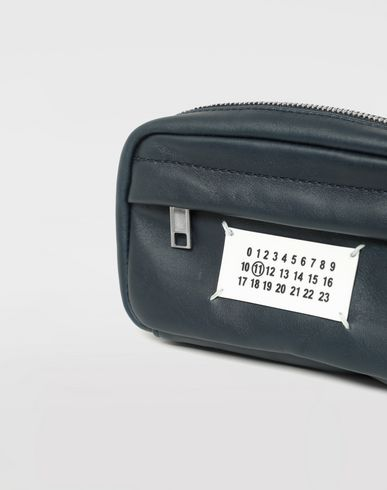 BAGS Logo leather bumbag  Blue