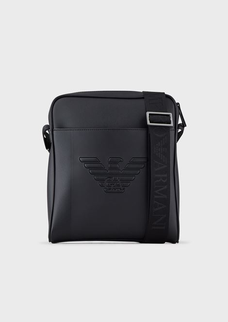 Shoulder bag with eagle maxi logo