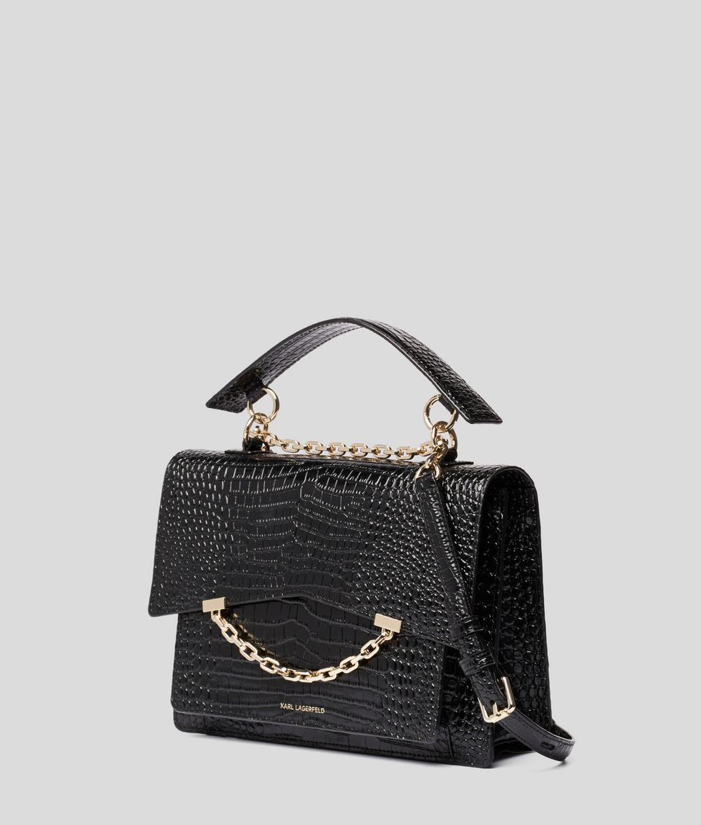 KARL LAGERFELD Сумка K/Karl Seven с крокодиловым мотивом Дамская сумка Для Женщин d