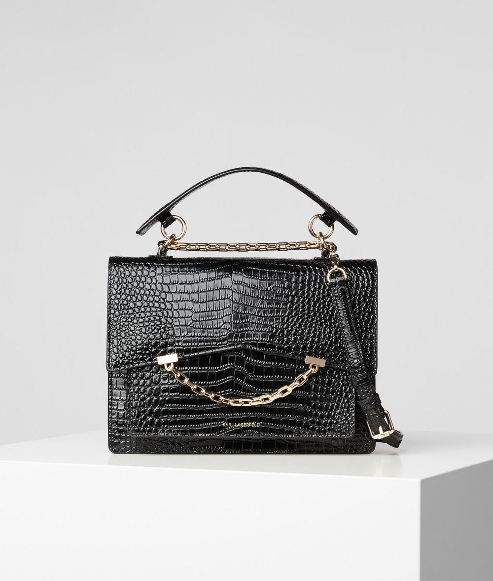 KARL LAGERFELD Сумка K/Karl Seven с крокодиловым мотивом Дамская сумка Для Женщин f
