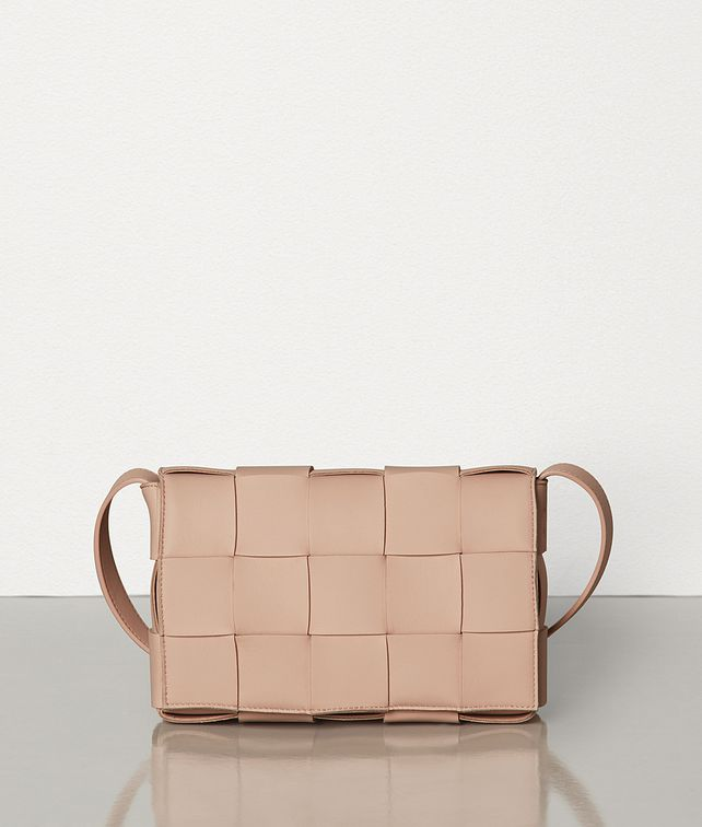 BOTTEGA VENETA SMALL CROSS-BODY BAG IN MAXI INTRECCIO Crossbody and Belt Bags Woman fp