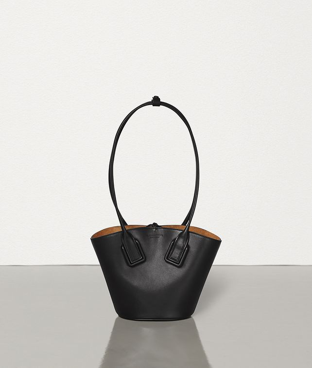 BOTTEGA VENETA SMALL BASKET TOTE IN FRENCH CALF Top Handle Bag Woman fp