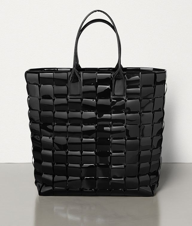 BOTTEGA VENETA LARGE TOTE IN POLY AND PATENT LEATHER Tote Bag Woman fp