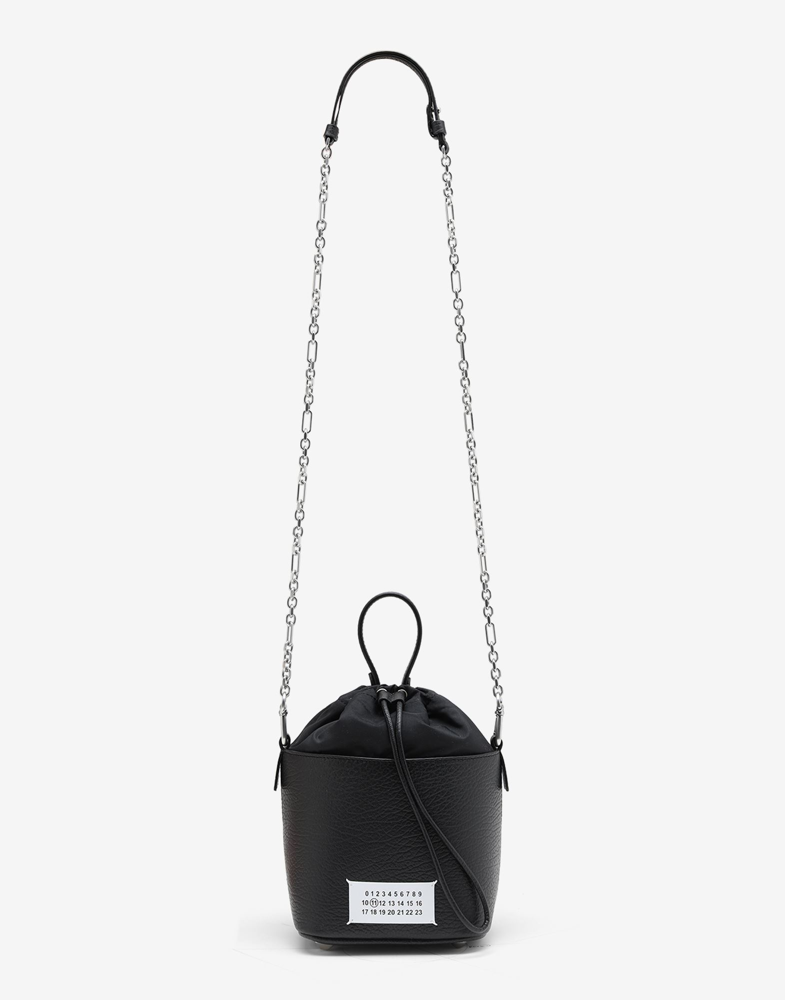MAISON MARGIELA Textured leather bucket bag Shoulder bag Woman a
