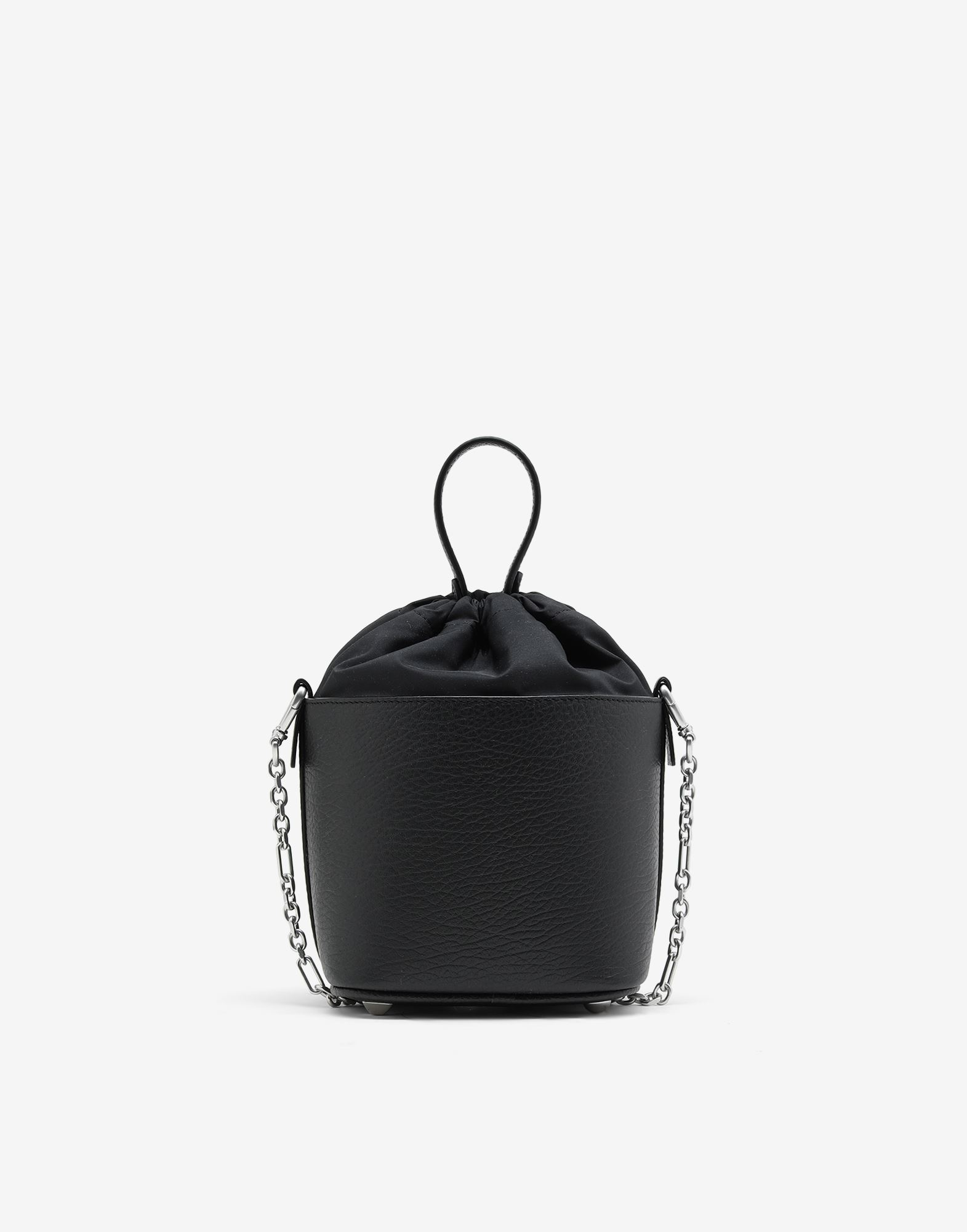MAISON MARGIELA Textured leather bucket bag Shoulder bag Woman d