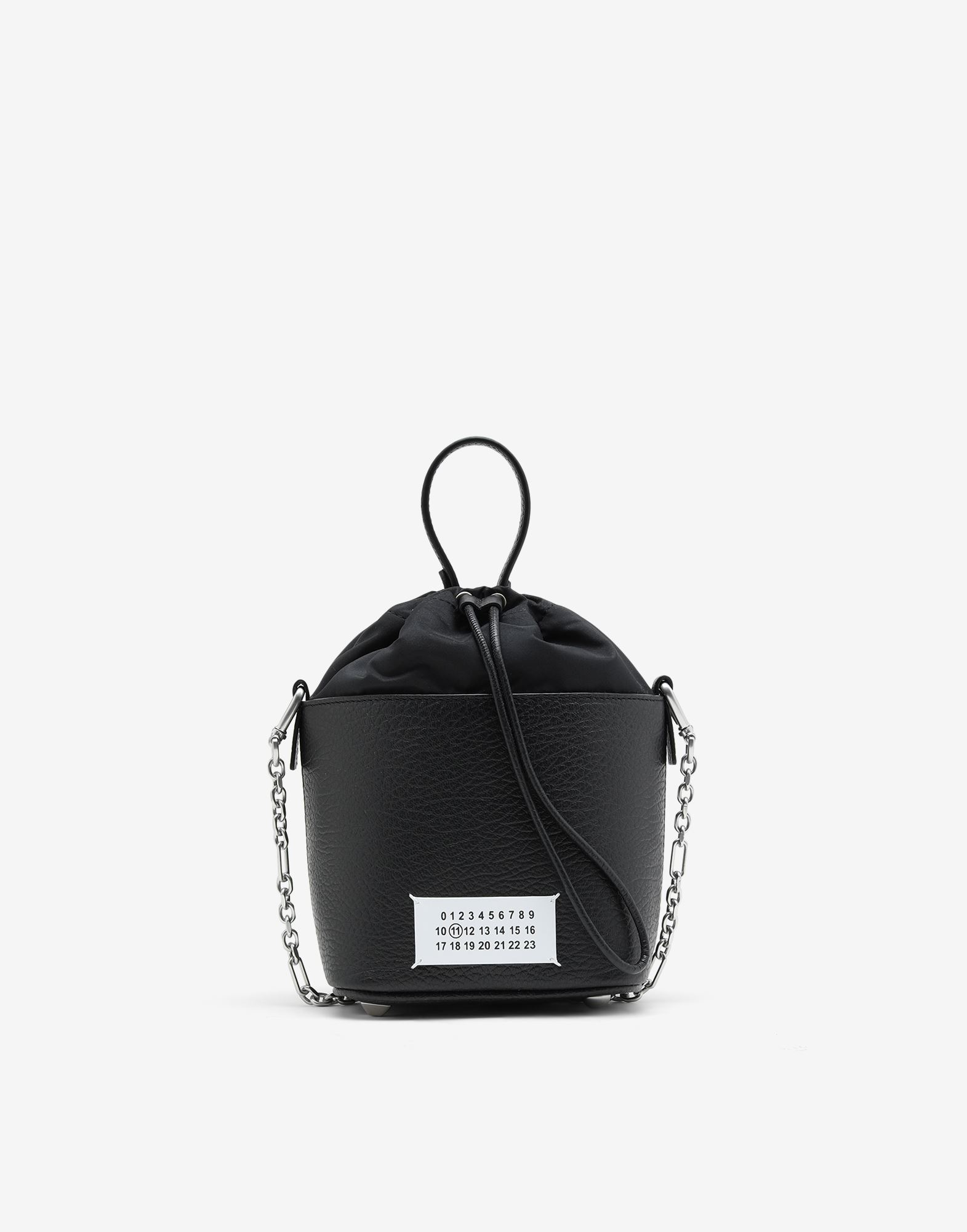 MAISON MARGIELA Textured leather bucket bag Shoulder bag Woman f