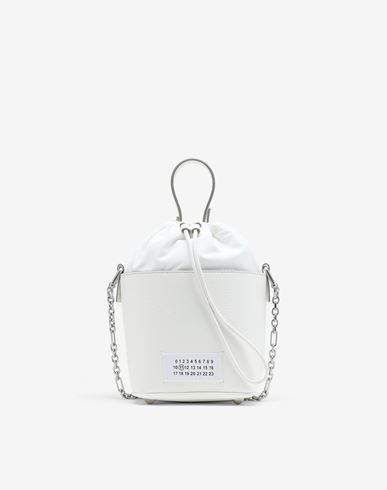 BAGS Textured leather bucket bag