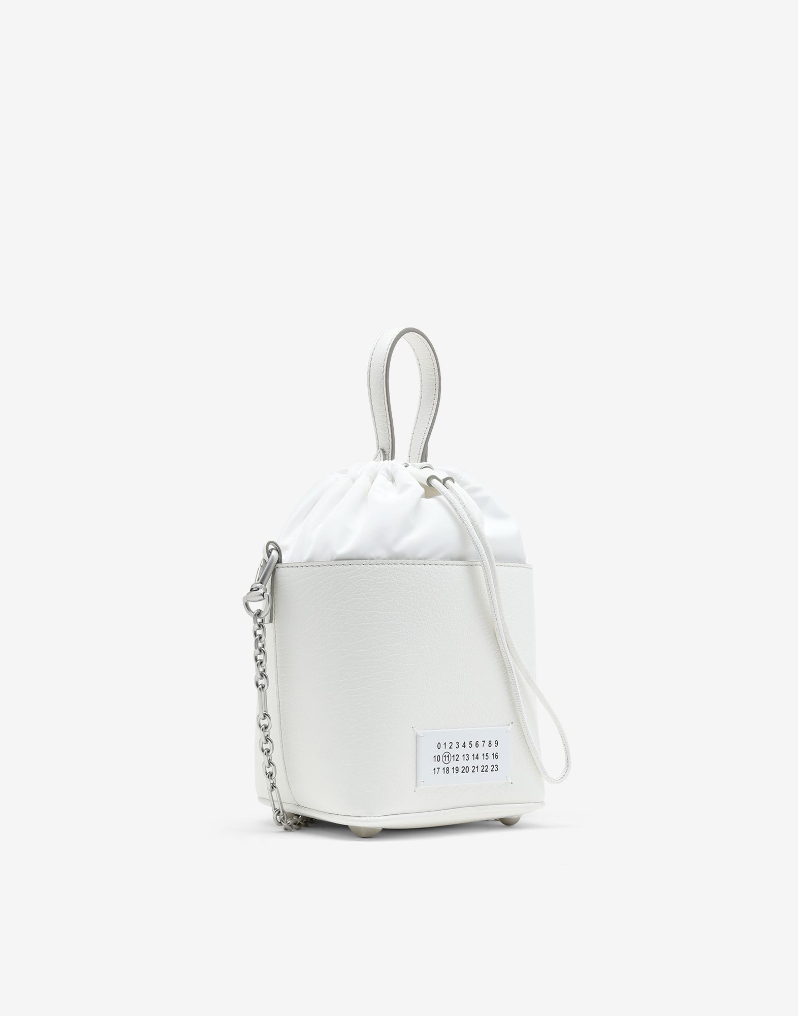 MAISON MARGIELA Textured leather bucket bag  Shoulder bag Woman r